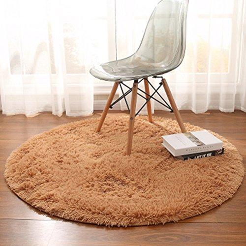 WLH- Tapijten yogamat Hangende mand Rattan Cushion Computer Stoel vloermatten woonkamer koffietafel Slaapkamer Deken (Color : Brown, Size : 100cm)