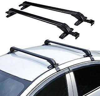 Eapmic 2 عدد 1M آلومینیوم اتومبیل سقف بالا رک صلیب نوار چمدان قابل تنظیم قاب پنجره قاب ضد سرقت قفل شده