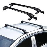 TBVECHI Automotive Cargo Racks 1M Aluminum Car Top Roof Rack Cross Bar Luggage Carrier Adjustable Window Frame