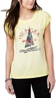 TOMMY HILFIGER Sailboat Print Logo T-Shirt, Lemon L