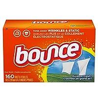 Bounce バウンス 乾燥機用 柔軟剤シート 160シート入り Fabric Softener Dryer Sheet Outdoor Fresh [海外直送品][並行輸入品]