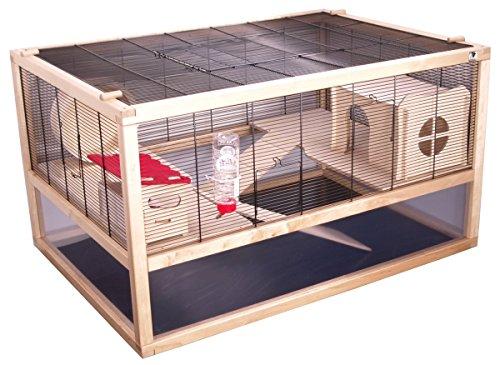 Hochwertiger und hamsterfreundlicher Gitterkäfig aus Holz