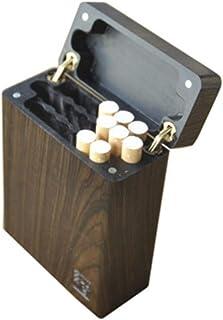 LONGWDS Caja de cigarro Cigarrillos tirón de la caja, 20 juegos de cigarrillos normales, perforado Fila De Portátil sólido...