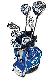 small Callaway Golf Xj Junior Golf Set Level 37 Piece Set Light Blue
