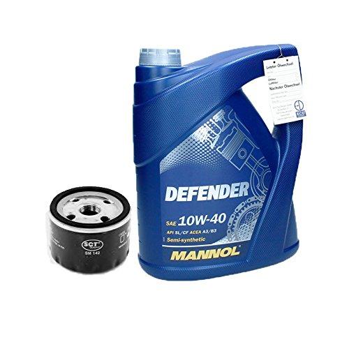 MANNOL 10W40 Defender Motoröl 5L + Ölfilter