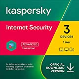 Kaspersky Internet Security 2021 | 3 Devices | 1 Year | PC/Mac/Android | Online Code