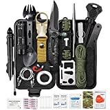 Survival Gear Kit 59 in 1, SOS Earthquake Aid Equipment Emergency Gear Fishing Hunting Birthday Gifts Ideas for Men Women Families Gifts for Men Dad Husband Fathers Day