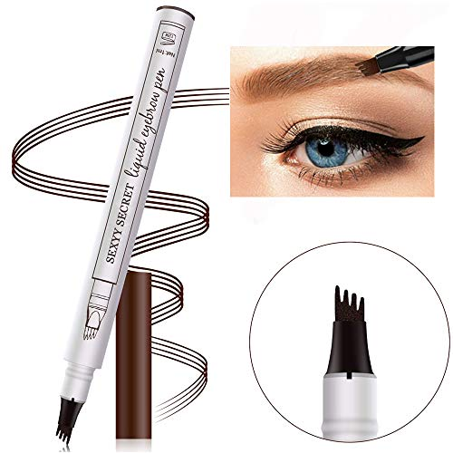 Microblading Eyebrow Tattoo Pen VICSPORT Wasserdichter Augenbrauenstift für Augenbrauen-Make-up, erstellt langlebige, natürlich aussehende Augenbrauen 02#Brown