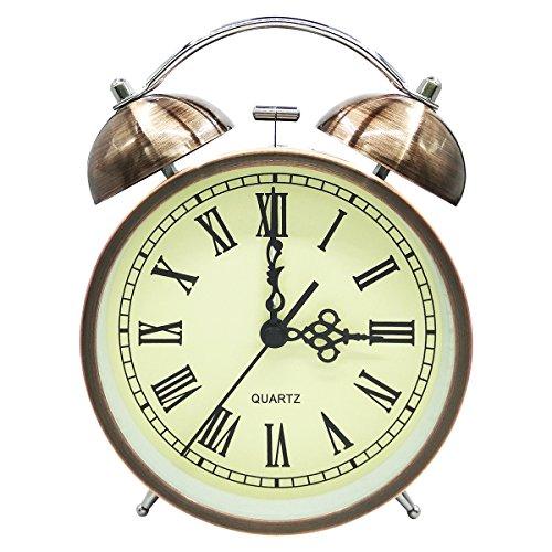 COOJA Vintage Reloj Despertador de Doble Campana con Sonido