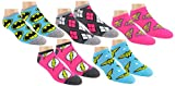 DC Comics Womens Justice League Ankle-No Show Socks 5 Pair Pack (One Size, JL Neon)