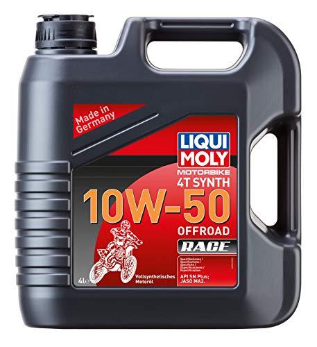 LIQUI MOLY 3052 Motorbike Öl 4T Synth 10W-50 Offroad Race, 4 L