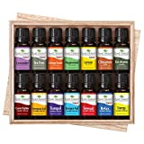 Plant Therapy 7 & 7 Essential Oilss Set 7 Single Oils: Lavender, Peppermint & More, 7 Synergy Blends in A Wooden Box 100% Pure, Undiluted, Natural Aromatherapy, Therapeutic Grade 10 mL (1/3 oz)