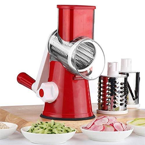 XYZZ Trituradora de Verduras Manual Multifuncional, artilugios de Cocina, diseño único de Tambor Giratorio Que Ahorra Tiempo y Esfuerzo, extraíble y fácil de Limpiar