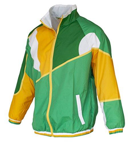 Funny Guy Mugs Irish 80s & 90s Retro Neon Windbreaker, Medium - St Patrick's Day Jacket