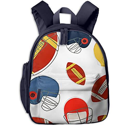 Kinderrucksack Kleinkind Jungen Mädchen Kindergartentasche Amerikanischer Football Helm Sport Backpack Schultasche Rucksack