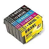 Mondy Cartucho de Tinta Compatible para Epson 603 603XL para Epson Expression Home XP-2100 XP-2105 XP-4105 XP-4100 XP-3105 XP-3100 Workforce WF-2830 WF-2810 WF-2850 WF-2835