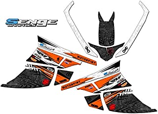 Compatible with Arctic Cat All Years F Series DEVIOUS Orange Graphics kit