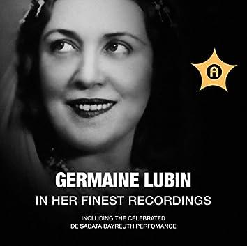 Germaine Lubin in Her Finest Recordings