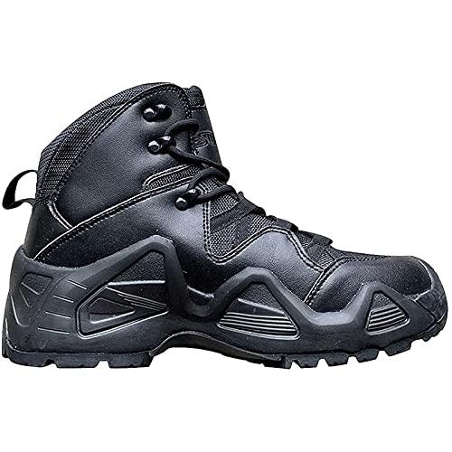 Botas TáCticas para Hombre Medio-Superior Ante Impermeable Botas Militares Del Desierto Aire Libre Transpirable Ligero Zapatos Seguridad para Trabajo Selva de La PolicíA