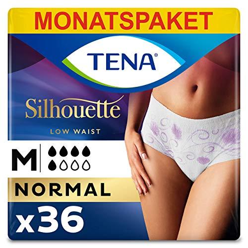 Tena Silhouette Medium, Monats-Paket mit 36 Pants (6 Packungen je 6 Einweghöschen)
