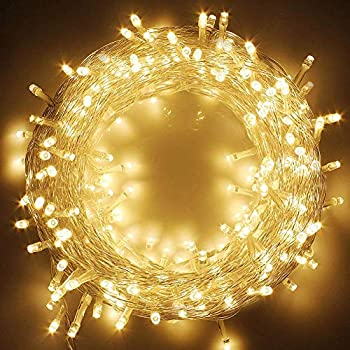 Twinkle Star 66FT 200 LED Indoor String Lights Warm White Plug in String Lights 8 Modes Waterproof for Outdoor Christmas Wedding Party Bedroom