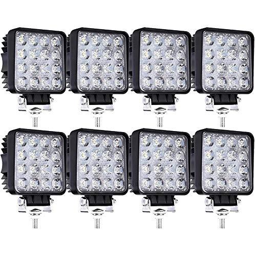 8 X 48W LED Arbeitsscheinwerfer Offroad Scheinwerfer IP67 Wasserdicht Zusatzscheinwerfer Flutlicht