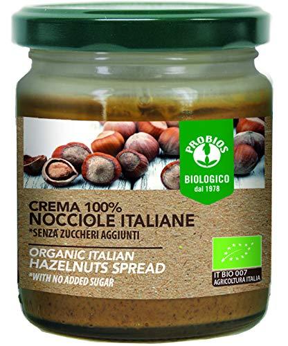 Probios Crema 100% Nocciole Bio Italiane Senza Glutine - [Confezione da 6 x 200 g]