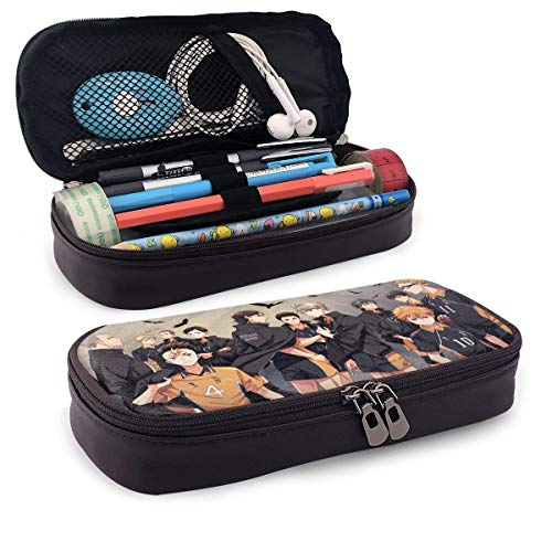 Haikyuu Japanese Anime Cartoon Stationery Bag Pencil Case Box Makeup Office Pen Storage Bag Pouch Cosmetic Bag