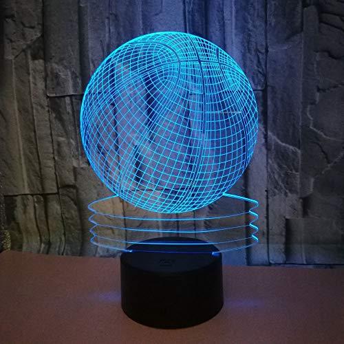 3D anemia Basketb CRA 7 cambio de color LED lampara de luz...