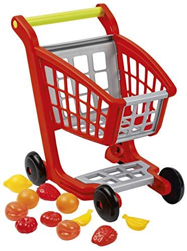 Jouets Ecoiffier – 1225 - Chariot de supermarché pour enfants et ses accessoires 100 % Chef – 12 pièces –...