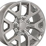 OE Wheels LLC 20 inch Rim Fits GMC Sierra Honeycomb Wheel CV92 20x9 Polished Wheel Hollander 5656