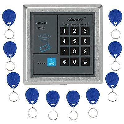 KKmoon Door access Keypad RFID Proximity Door Entry Access Control System + 10 Key Fobs