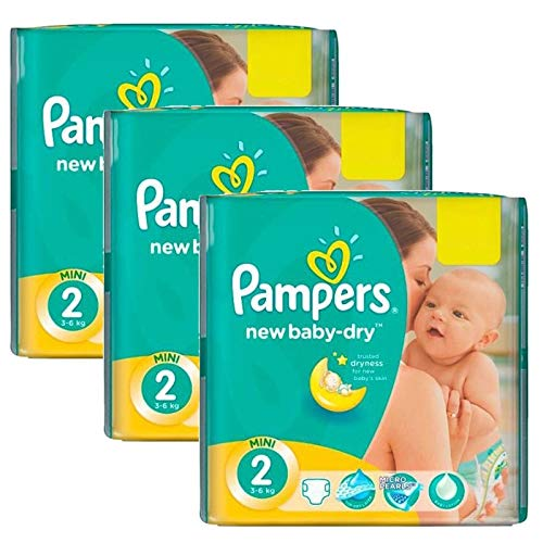 Couches Pampers - Taille 2 new baby dry - 560 couches bébé