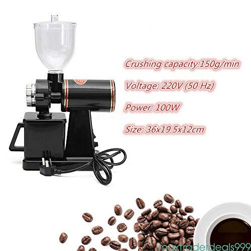Smerigliatrice Elettrica 100W Smerigliatrice Regolabile A Basso Rumore Veloce E Facile Da Pulire Macchina Per Caffè Macinacaffè Piatta Chicco Di Caffè