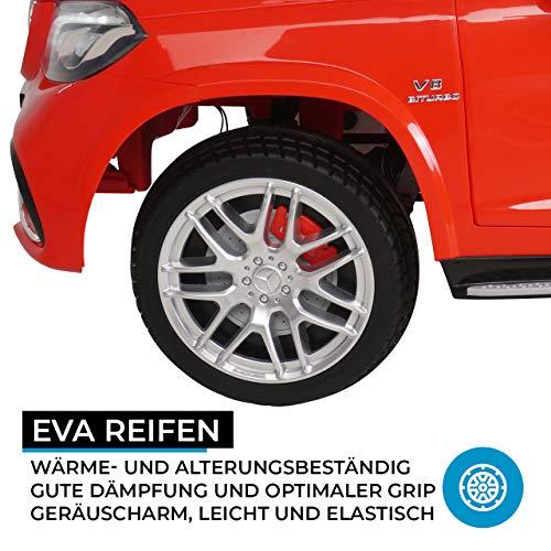 RC Auto kaufen Kinderauto Bild 5: Actionbikes Motors Kinder Elektroauto Mercedes GLS63 - Lizenziert - 4 x 45 Watt Motor - Ledersitz - Eva Vollgummireifen (Rot)*