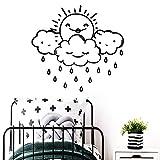 SLQUIET Leichte Regen Kinder Kunst Tapete Kinderzimmer