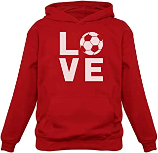 I Love Soccer Sweatshirt Gift for Soccer Players Fans Women Hoodie