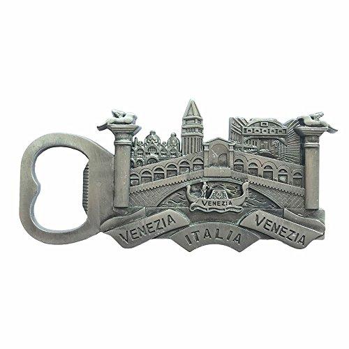 Venice Venezia 3D Refrigerator Magnet Italy Souvenir Silver Fridge Magnet Bottle Opener