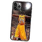 FDHG Kobe Bryant - Custodia protettiva ultrasottile per iPhone 12/12 Mini/12 Pro/12 Pro Max, pallacanestro Lakers Black Mamba ultrasottile di protezione, in TPU morbido Shell Case V-12 (5,4 cm)