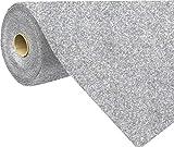 havatex Rasenteppich Kunstrasen mit Noppen 1.550 g/m² - Rot Blau Grau Braun Beige oder Anthrazit | Meterware | wasserdurchlässig | Balkon Terrasse Camping, Farbe:Grau-Blau, Größe:200 x 50 cm