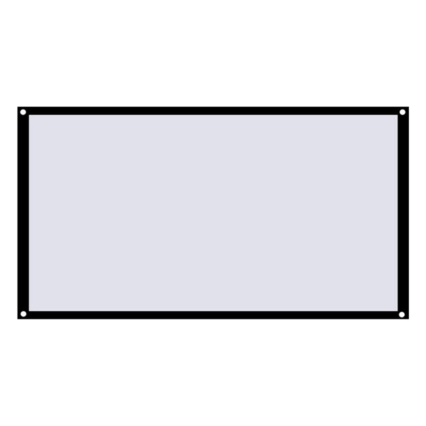 引退する聞くフットボールMolySun 大型16:9折りたたみ式デザインホームプロジェクションスクリーンソフトポリエステルフィルムシアター屋外映画ビデオスクリーンプロジェクター
