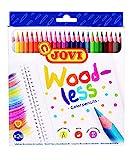 Jovi 73424 - Lápices de colores Woodless, 24 unidades, Colores surtidos (734/24)