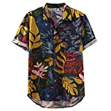 Aberimy Camisa Hawaiana Hombre Manga Corta Verano Camisas Estampada Funny Camisetas Shirt Originales Impresión Hawaiana Casual Regular Fit Camisa de Hawaii 2019 Moda