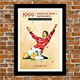 Poster Manchester United - Man UTD - 1999 Champions League