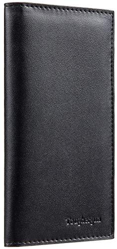 Toughergun Vegan Leather Checkbook Cover For Men & Women Card Holder Wallet RFID Blocking (pebble pink)