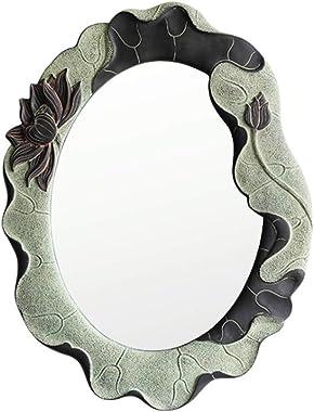 Maquillage rétro Miroir Rond Bath Dressing Miroir Mural décoratif Art Personnalité Salle de Bain Chambre