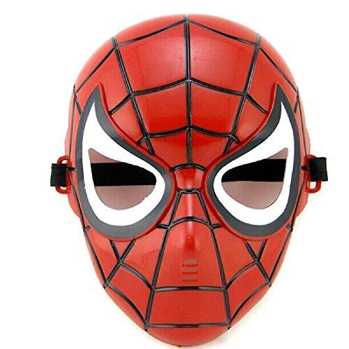 Maschera per Costume Uomo Ragno - Travestimento - Carnevale - Halloween - Spiderman - Super eroe - Rosso - Bambino - 5-8 anni - Idea regalo per natale e compleanno