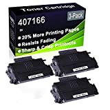 Paquete de 3 cartuchos de tóner (negro), compatible con impresoras Ricoh Aficio SP100 SP100E SP100SU SP100SF SP112 SP112SU SP112SF