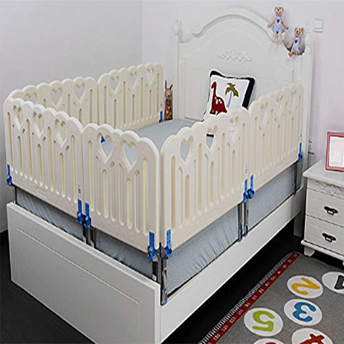 Baby Bed Rail,Safety Bed Barrier Design Protection Guards for Toddler Baby and Children (Color : White, Size : 23.6in)