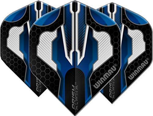 Winmau Darts Sport Prism Extra Dick Flights 10-Piece Pack - Alpha Blau Weiß 1, One Size